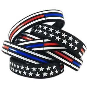 FireFighter and Police Silicone Bracelets